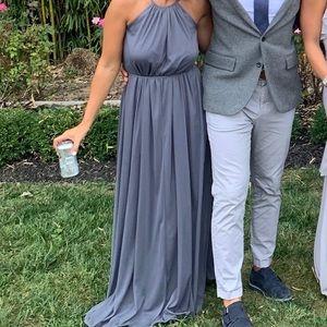 Pewter bridesmaid dress